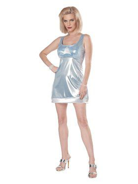 Adult High School Reunion Blue Mini-Dress