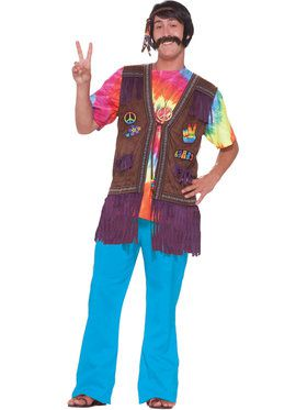 Hippie Vest for Adults X-Large