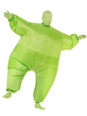 Green Inflatable Adult Jumpsuit