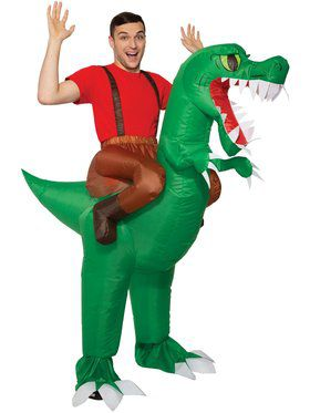 Ride-A-Dinosaur Inflatable Adult Costume