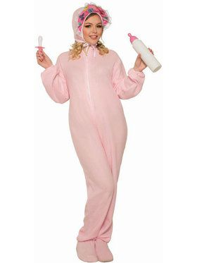 Adult Jammies Pink Adult Costume