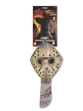 Adult Jason Machete and Mask Set