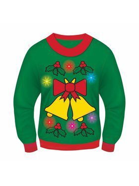 Adult Jingle Bells Light and Sound Sweater