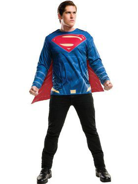 Adult Justice League Superman Costume Top