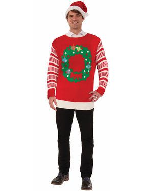 Adult Light Up Christmas Wreath Sweater