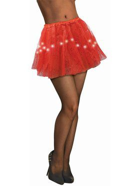 Adult Light Up Red Tutu