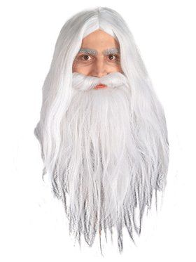 Gandalf Beard And Wig Set