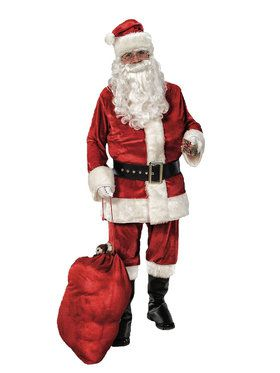 Adult Men's Deluxe Velvet Santa Costume