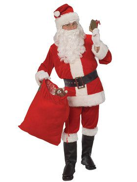 Adult Men's Velour Santa Suit Costume