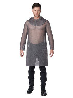 Metallic Tunic Chainmail Costume for Adult