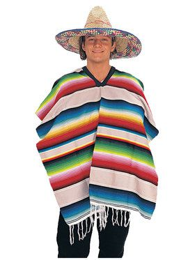 Mexican Serape Poncho for Adults