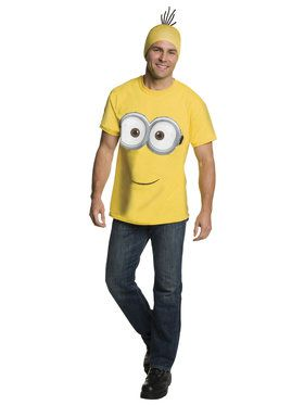 Minions Movie: Minion Shirt Headpiece For Adults Large