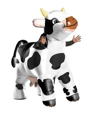 Inflatable Costume - Moo Moo The Cow - for Adults