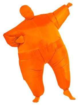 Orange Inflatable Adult Jumpsuit