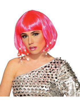Adult Pink Light Up Wig