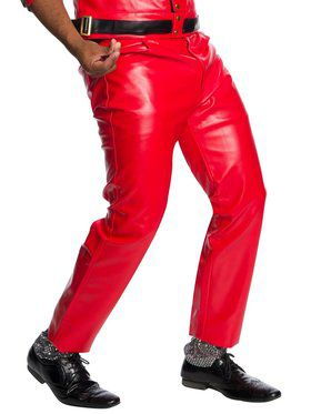 Adult Pleather Jeans - Red