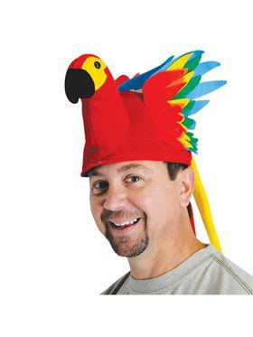 Plush Parrot Adult Hat