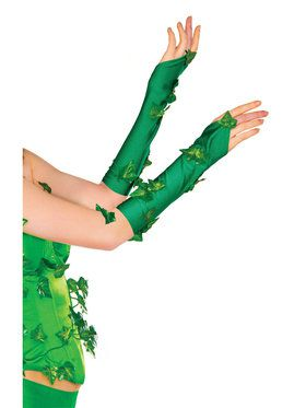 Poison Ivy Glovelets For Adults