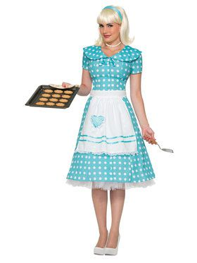 Polka Dot Adult House Wife Costume