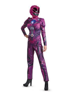 Deluxe Adult Pink Power Ranger Costume