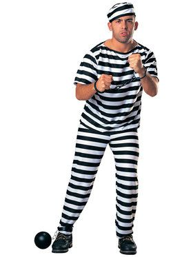 Adult Prisoner Man Costume (Fuller Cut)  sc 1 st  BuyCostumes.com & Funny Costumes - Kids and Adults Halloween Costumes | BuyCostumes.com