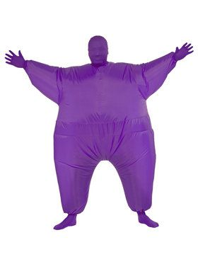 Purple Inflatable Adult Jumpsuit
