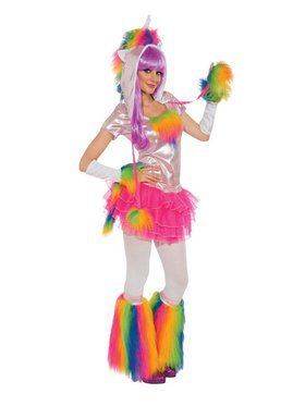 Adult Rainbow Unicorn Costume
