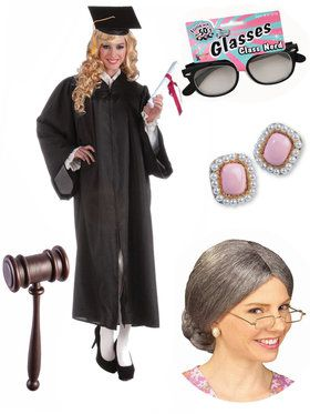 Adult RBG Supreme Judge Costume Kit