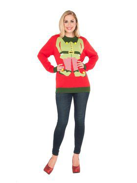 Adult Red Elf Sweater