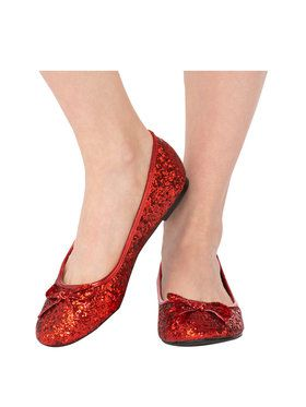 Red Glitter Adult Shoe