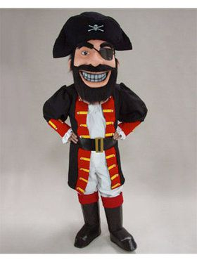 Redbeard Pirate Mascot Costume for Adults