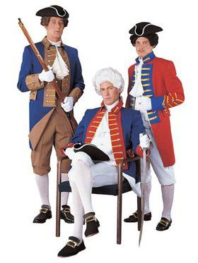 Men's Revolutionary Reenactment Redcoat Costume
