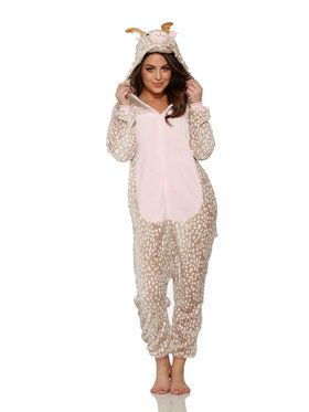 Reindeer Jumpsuit Adult Costume