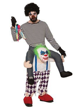 Ride-a-Evil Clown Costume for Adults