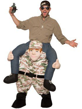 Adult Ride-A-Soldier Costume