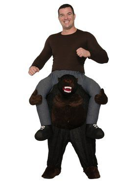 Adult Ride On Gorilla Costume
