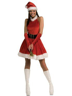 Adult Santa's Inspiration Dress with Sleevelets