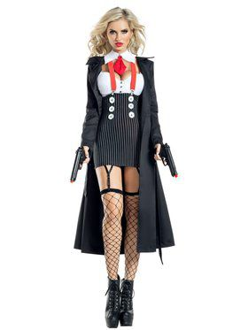 Adult Sassy Gangster Babe Costume