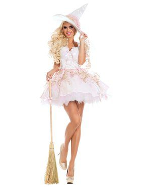 Adult Sassy White Magic Witch Costume