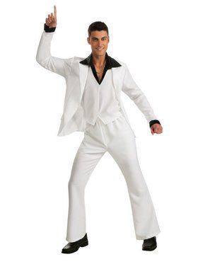 Adult Saturday Night Fever White Suit Costume