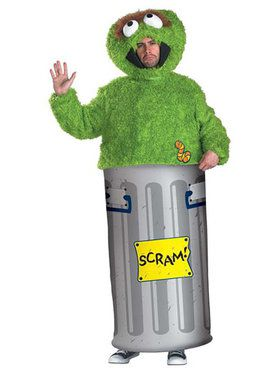 Adult Sesame Street Oscar The Grouch Cos