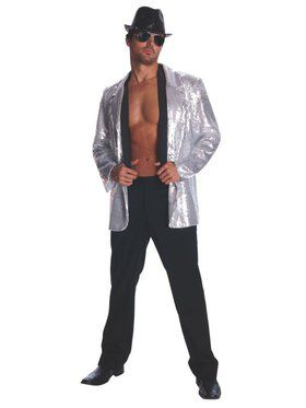 Adult Silver Sequin Jacket