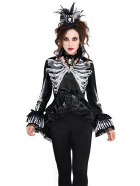 Adult Skeleton Jacket Costume