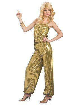 Adult Solid Gold Diva Costume