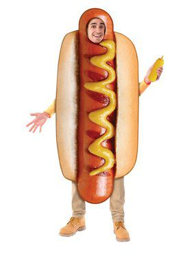 Adult Sublimation Hot Dog Costume Costume