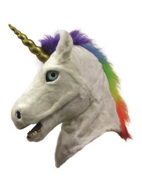 Adult Moving Mouth Unicorn 2018 Halloween Masks