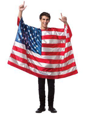 Adult Usa Flag Tunic Costume