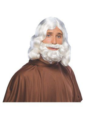 Adult White Biblical Wig & Beard Set
