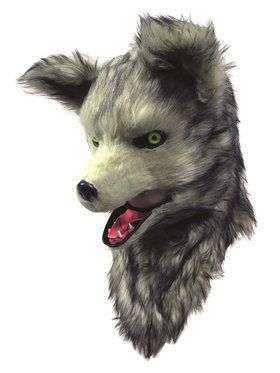 Wolf Adult Mask with Moving Mouth