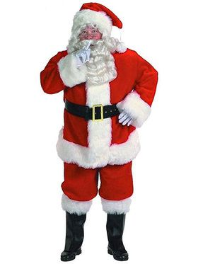 X-large Professional Quality Santa Suit